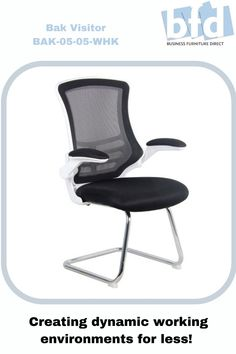The BAK White/Black Luca Visitor Chair with Chrome Frame, more details on our website. Business Furniture, Home Office Furniture, Mesh Chair, Furniture Direct, Chair Fabric, Black Mesh, Chrome, Arms, Chairs