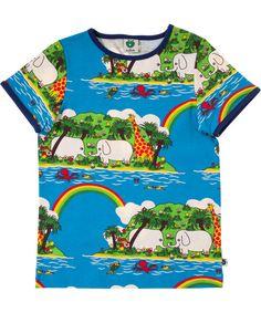 Småfolk funny animal-island printed T-shirt