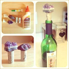 Homemade Geode Wine Stoppers - http://www.savingeveryday.net/2013/07/diy-project-homemade-geode-wine-stoppers/