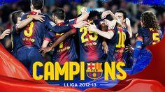 Campions de Lliga 2012/13.