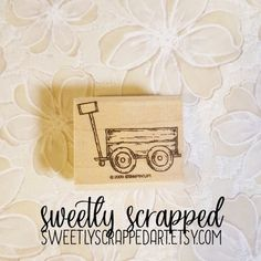WAGON Stamp, Rubber Stamp, Wagon Embellishment, Scrapbooking Stamp, Cardmaking Stamp, Vintage Wagon, Stamp, Stampin up, Radio Flyer, Vintage Radio Flyer, Cardmaking, Stampin Up, Embellishments, Scrapbooking, Place Card Holders, Unique Jewelry, Handmade Gifts, Vintage