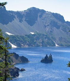 Best Things to Do at Crater Lake National Park... Phantom Ship surrounded by deep blue waters, camping or RVing trip anyone?