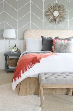 City Farmhouse Master Bedroom Reveal featured in BHG