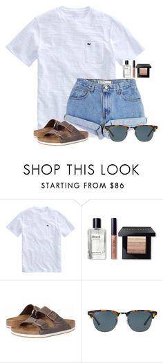 """""""Just got a mani/pedi """" by flroasburn on Polyvore featuring Levi's, Bobbi Brown Cosmetics, Birkenstock and Ray-Ban"""