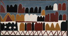 Buy Australian Aboriginal art paintings from Cooee Art Gallery Sydney, Australia's oldest Aboriginal art gallery. Aboriginal paintings, sculptures, artifacts and prints. Kunst Der Aborigines, Aboriginal Painting, Indigenous Art, Art Market, Superhero Logos, Geometry, Art Pieces, Sculptures, Art Gallery