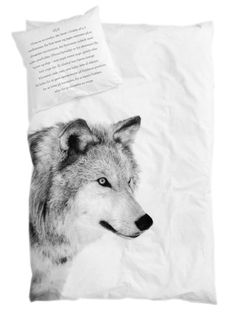 By Nord Junior Wolf Animal print Bed Linen Set Duvet Bedding, Linen Bedding, Bedding Sets, Cotton Bedding, White Bedding, Animal Print Bedding, Junior Bed, Single Duvet Cover, Textiles