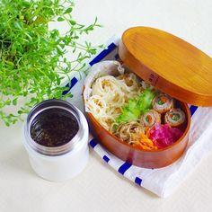 夏は麺弁♡ 今週のおべんとうまとめ : mama*kitchen 火曜日:半田そうめん弁当