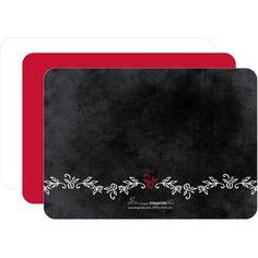 Flat Holiday Photo Cards Chalkboard Inspiration - Front : Winterberry