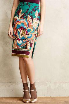 Anthropolgie Tapestry Pencil Skirt.