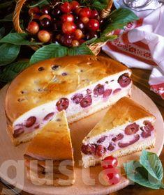 Cseresznyés túrótorta Hungarian Recipes, Hungarian Food, Sweet Cookies, Cheesecake, Mexican, Sweets, Baking, Breakfast, Ethnic Recipes
