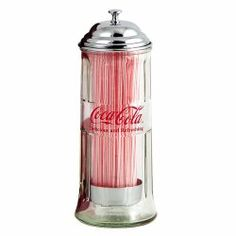 This Coca-Cola Soda Fountain Straw Dispenser is an excellent vintage-style reproduction. Perfect straw holder for any kitchen, diner, or restaurant that serves Coke. Straw Dispenser, Straw Holder, Vintage Coca Cola, Vintage Diner, Coca Cola Decor, Coca Cola Kitchen, Cocoa Cola, Always Coca Cola, World Of Coca Cola
