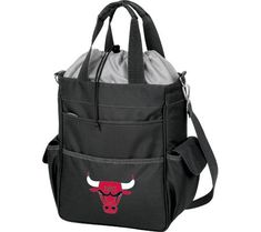Picnic Time Activo Chicago Bulls Print  https://allstarsportsfan.com/product/picnic-time-activo-chicago-bulls-print/  Dimensions: 11″ x 6″ x 14″ Origin: Imported Features of this item include: NBA, Outdoor, Picnic, Polyester, Water Resistant
