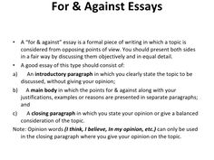 for and against essay about homework