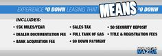 Experience $0 Down Leasing that MEANS $0 Down! It's one of the best leasing deals in the Gastonia/Charlotte area and its right here at Momentum Mazda.