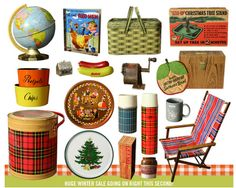 Vintage stuff for a picnic... well some stuff for a picnic anyways :)