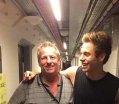 Luke and his dad > backstage