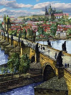 Gallery of artist Yuriy Shevchuk: Prague 2008 Great Paintings, Beautiful Paintings, Perspective Art, Orchid Care, Great Pictures, Public Art, Landscape Art, Paris Skyline, Egypt