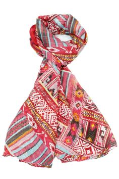 Before you juggle your warm weather wardrobe try diversifying your present pieces with summer scarves. Just one quirky tied scarf can make trending outfit look and feel brand new! This vintage scarf is an affordable way to diversify your wardrobe also the rescuer to bad hair days.  Size: 70'' x 35''  Antoinette Red Scarf by Violet Del Mar. Accessories - Scarves & Wraps San Diego California