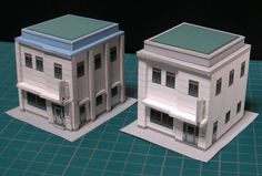 Clinic Building Paper Model In 1/150 Scale - by Hol Nice    ==             A little building in 1/150 scale (N scale) of a Clinic/Hospital, by Japanese designer Hol Nice, from Seesaa website. Perfect for dioramas, train sets or RPG games.