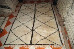 Beni ourain Moroccan wool rug berber beni ouaraine by potofrugs, $850.00