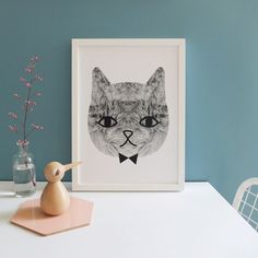 Sweetest Cat poster by Audrey Jeanne