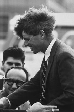 Sen. Robert Kennedy campaigns, June 1968.