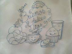 Resultado de imagen para dibujos de desayunos para bordar