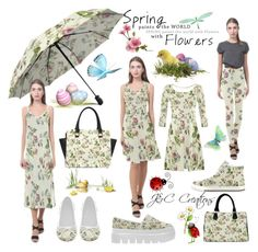 """""""Spring Paints The World With Flowers"""" by jnccreations ❤ liked on Polyvore featuring vintage"""