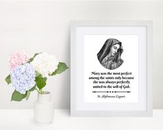 Blessed Mother art print Virgin Mary art print St.   Etsy Virgin Mary Art, Saints, Mother Art, Saint Quotes, Color Calibration, Blessed Mother, Printing Process, Art Prints, Artwork
