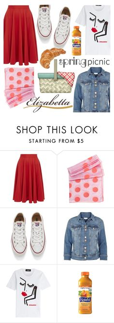 """""""Spring Picnic"""" by elizabetta-boutique ❤ liked on Polyvore featuring Closet, Converse, River Island, Dsquared2, INC International Concepts and MANGO"""
