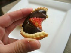Chocolate Pudding Tartlets - by Jessica the Baker