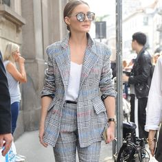 "2,269 Likes, 9 Comments - ERMANNO SCERVINO (@ermannoscervino) on Instagram: ""Olivia Palermo (@oliviapalermo) spotted during #MFW wearing #ErmannoScervino Prince of Wales suit…"""