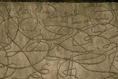 Pensieri sull'arte / Maria Lai - L'arte è la luce intermittente nel buio del mondo. Die Kunst ist das Leuchtfeucher in der Dunkelheit der Welt. Art is the bonfire in the darkness of the world.