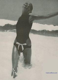 Couture Allure Vintage Fashion: Rudi Gernreich Swimsuit, 1968