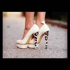 leopard printed heel.