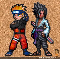 Naruto Sasulke Rivals Perler beads par ~ genjiworks sur deviantARTp