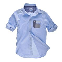 Shirt with pocket and patches