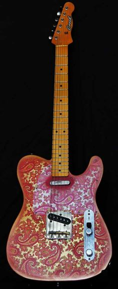 Vintage Pink Paisley by Crook Custom Guitars