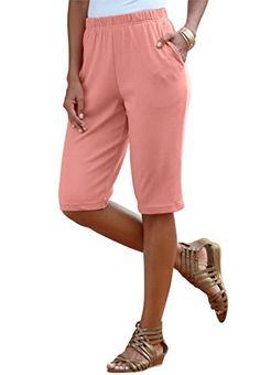 Roamans Women's Plus Size Bermuda Shorts -- Find out more about the great item at the image link. Boutique Dresses, Boutique Clothing, Boutique Shop, Fashion Outfits, Fashion Clothes, Women's Fashion, Plus Size Jeans, Fashion Today, Womens Fashion For Work