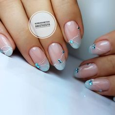 Nail Fasson Beautiful delicate nails Rehbraun blue nails Rehbraun dress nails Bridal nails Cute fashion nails Delicate wedding nails Exquisite nails Festive nails The post Nail Fasson appeared first on Berable. Blue Nail Designs, Best Nail Art Designs, Blue Nails, My Nails, Nail Art Design Gallery, French Tip Nails, Summer French Nails, French Manicures, French Tips