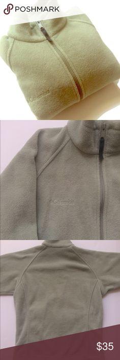 "•Columbia•Fleece•Jacket• •sage green• full zip fleece jacket• EUC• smoke free• dog friendly home• bust:21""•L:25""• no flaws• 100% poly• pull toggles inside hen• zippered pockets• elastic cuffs• Columbia Jackets & Coats"