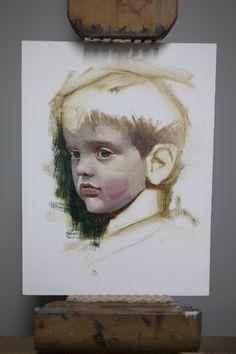 Painting Stuff to Look Like Stuff: Postcard Portraits