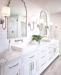 Bathroom decor diy ideas - The mirror will reflect light and to the room.This increases light and creates a room feel more alive. #Bathroomdesignhacks