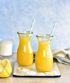 Pina Colada Lassi – Non-Alcoholic Pina Colada Recipe. A delicious coconut, pineapple and yogurt alcohol-free drink. Coconut Syrup, Canned Coconut Milk, Pina Colada Recipe Non Alcoholic, Non Alcoholic Cocktails, Drinks, Mango Lassi Recipes, Passion Fruit Juice, Protein Smoothie Recipes, Recipes
