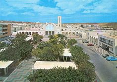 The main square of Laayoune (لعيون), Western Sahara, at 70s. Under spanish rule until 1975.