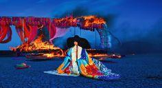 Burning of Adam Polina's Juun Saarah set shot by Peter Ruprecht