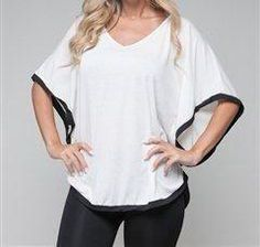 Curvy-$20, Sizes avail is one 1X, 1 2X  white contrast trim cape top. Limited availability. Place your order today! for up to date pricing, availability and to purchase, visit http://www.hollywoodifshecouldsboudoir.com/ or leave a comment. :-)