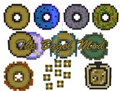 The Bagel Mod for Minecraft 1.8 -  The Bagel Mod, of course, adds a lot of bagels into your Minecraft world, which come in several types of ender bagel, normal bagel, and mossy bagel. They are crafted using various materials found in the game, even with the use of some very strange ingredients such as bits of mossy cobblestone or rotten flesh.  #Minecraft18Mods -  #MinecraftMods