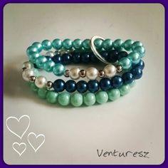 Green/Blue pearl bracelet