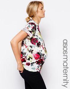 Enlarge ASOS Maternity T-shirt In Bright Floral Print